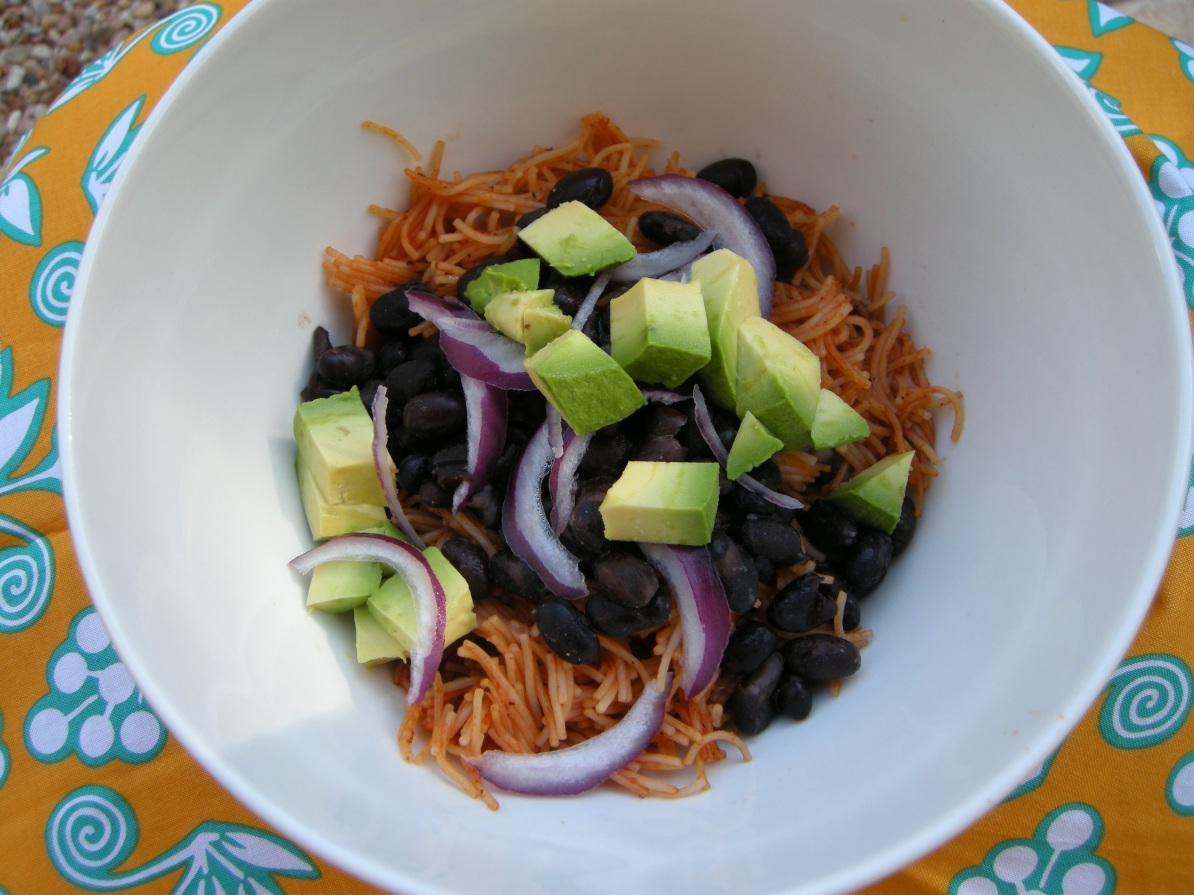 vegetarian recipe: fideo seco | aneelee.wordpress.com