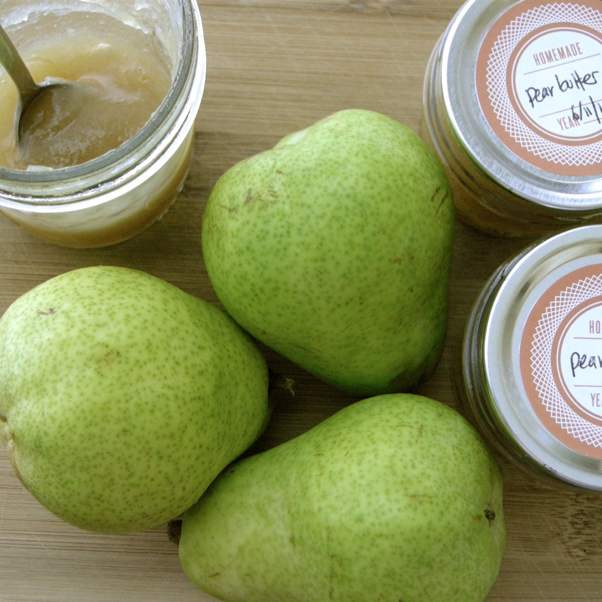 pears, green, pear butter