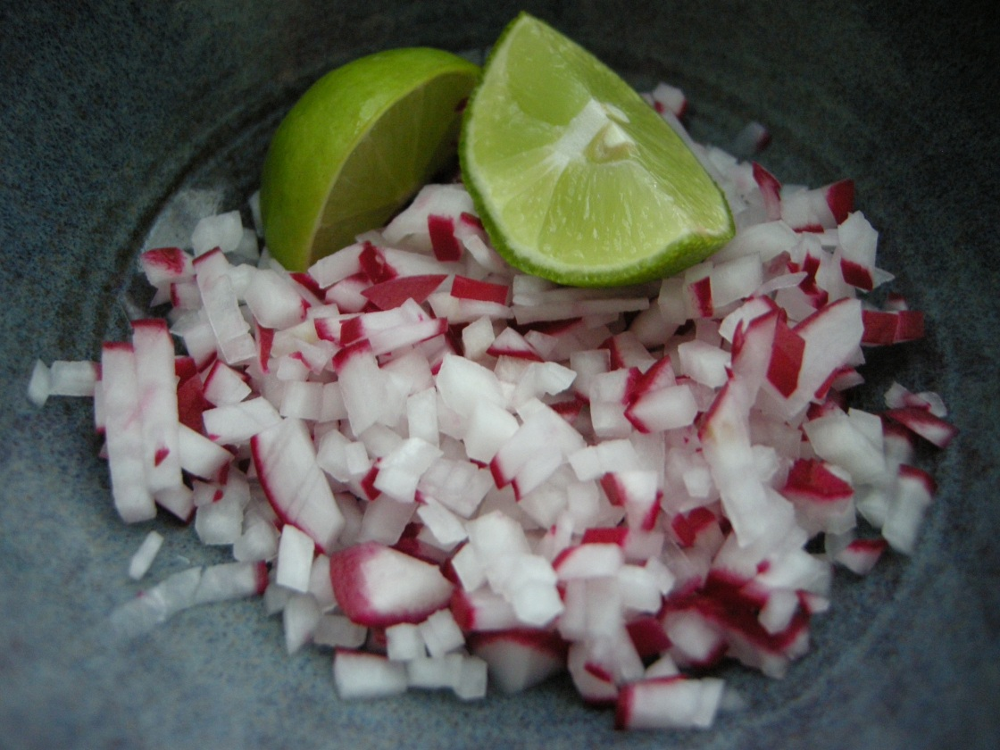 chopped radish & lime