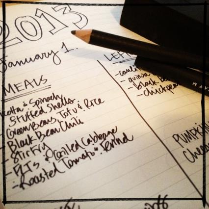 vegetarian meal plan - december 31, 2012