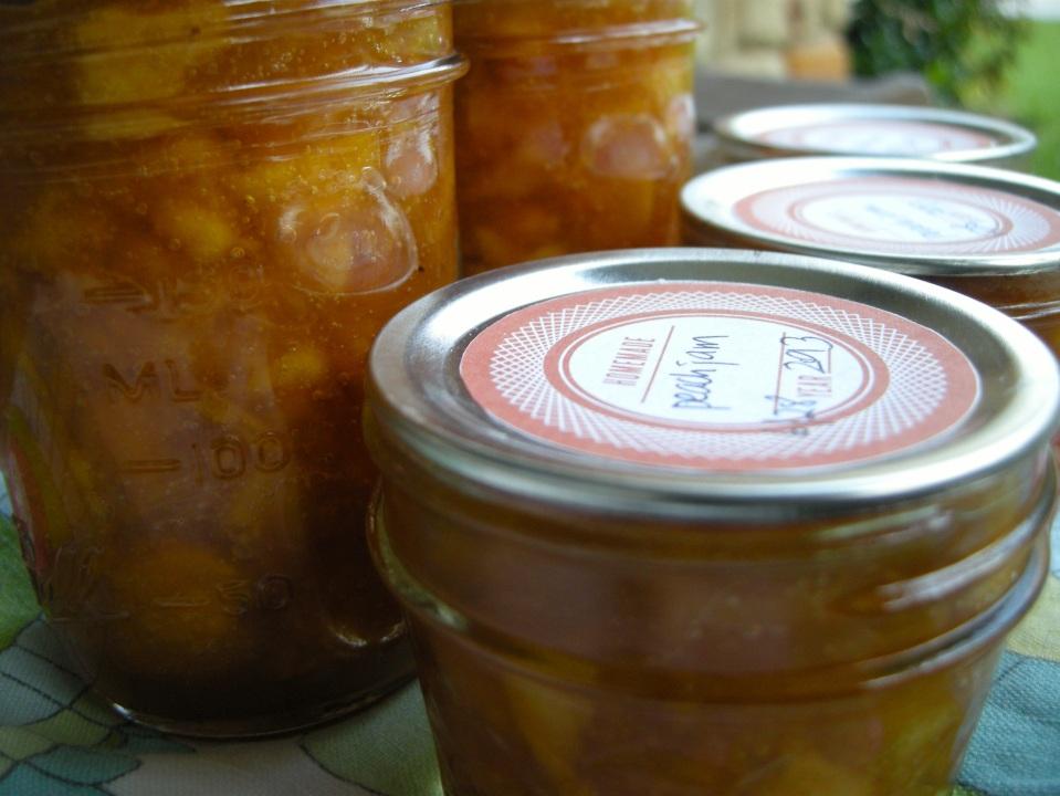 peach jam & a thank you | aneelee.wordpress.com