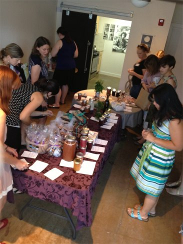 ATXSwappers browsing the merchandise - July 2013