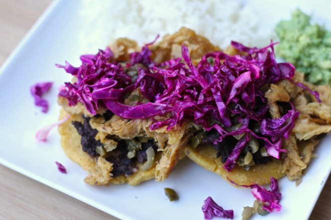 sopes with olive and caper soy curls | aneelee.wordpress.com