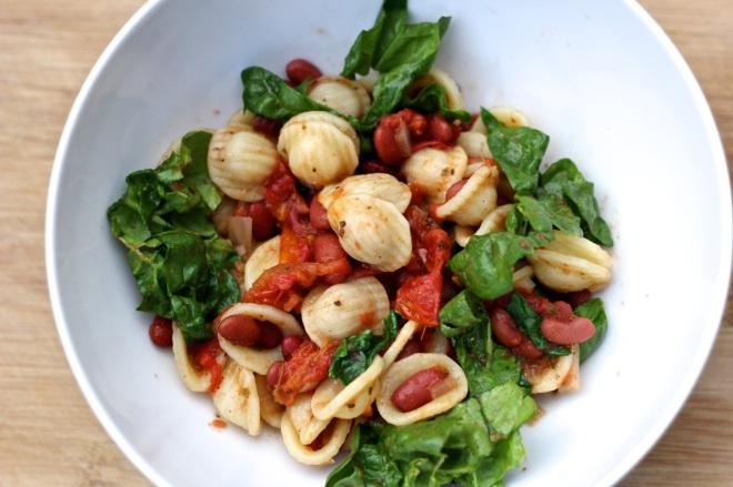 pasta and beans dinner | aneelee.wordpress.com