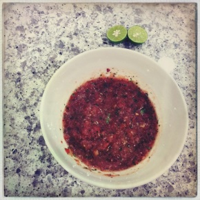 first batch of salsa